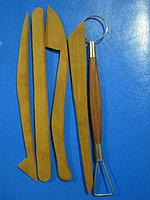 Стеки для лепки из скульптурного пластилина и полимерной глины,5 шт. Дерево. Алматы