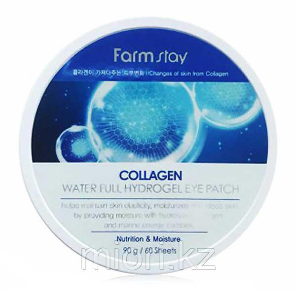 FarmStay Collagen Water Full Hydrogel Eye Patch гидрогелевые патчи для кожи вокруг глаз c коллагеном
