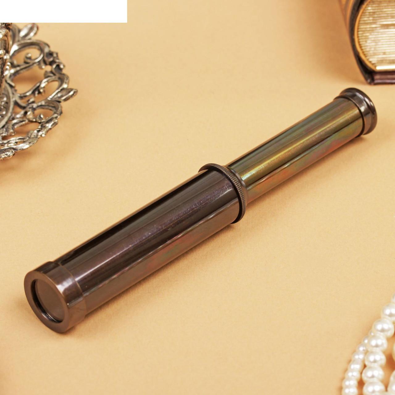 """Подзорная труба латунь """"Юнга"""" 10х2х2 см"""
