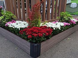 Грядка для цветов, клумбы из ДПК, грядки в теплицах и на участке
