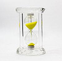 Песочные часы, желтые, 9*6 см