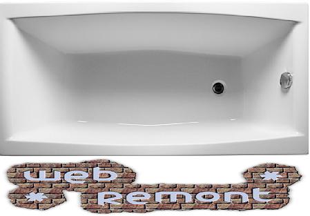 Акриловая  прямоугольная ванна Мелора 150*70 см. 1 Марка. Россия (Ванна + каркас +ножки), фото 2