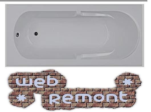 Акриловая прямоугольная  ванна Даная 180x80 см. 1 Марка. Россия (Ванна + каркас +ножки)
