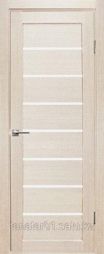 Дверь Линия, цвет лиственница, матовое стекло