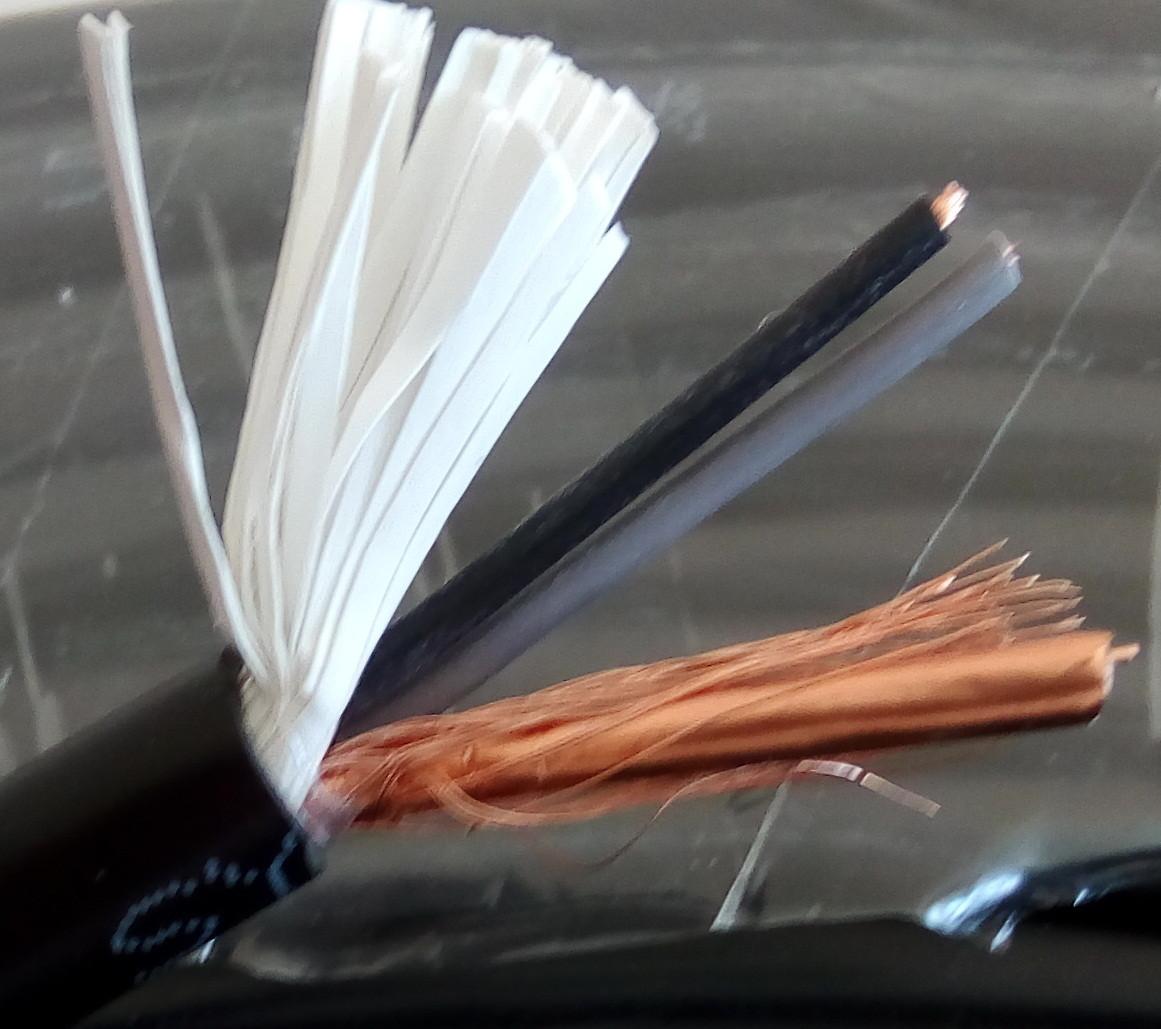 КВК-В  комбинированный кабель коаксиальный с питанием  75 Ом+2x0,5 мм²