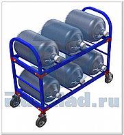 Стеллаж передвижной для 19-литровых бутылей с водой ТСВД-6