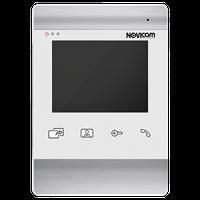"""Аналоговый видеодомофон c дисплеем 4.3"""", поддержкой 2 вызывных панелей NOVIcam WHITE MAGIC 4"""