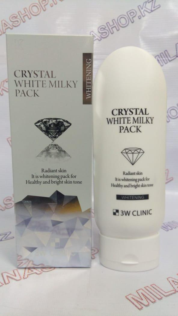 3W CLINIC CRYSTAL WHITE MILKY PACK - МАСКА ДЛЯ ЛИЦА