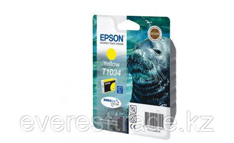 Картридж Epson C13T10344A10 TX550W/T40W/TX600FW/T1100 желтый, фото 2