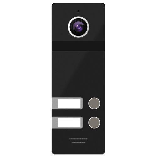 FANTASY 2 BLACK Панель вызова видео домофона с камерой 800 ТВЛ угол 136° на 2х абонентов