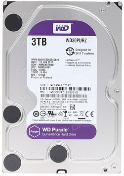 Жесткий диск WD Purple 3 Тб WD30PURX