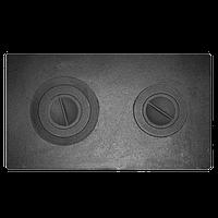Плита печная П2-3 с двумя отверстиями для конфорок