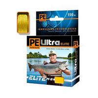 Леска плетёная Aqua Pe Ultra Elite M-8 Yellow, d=0,14 мм, 150 м, нагрузка 10,1 кг