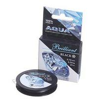 Леска плетёная Aqua Black Brilliant, 25 м, 0,10 мм (комплект из 2 шт.)