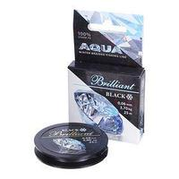 Леска плетёная Aqua Black Brilliant, 25 м, 0,06 мм (комплект из 2 шт.)