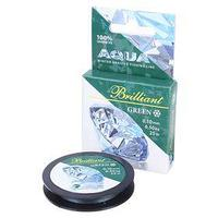 Леска плетёная Aqua green Brilliant, 25 м, 0,10 мм (комплект из 2 шт.)