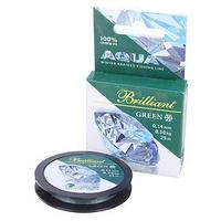 Леска плетёная Aqua green Brilliant, 25 м, 0,14 мм (комплект из 2 шт.)