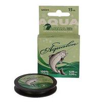 Леска плетёная Aqua Aqualon Dark-Green, 15 м, d=0,08 мм (комплект из 4 шт.)