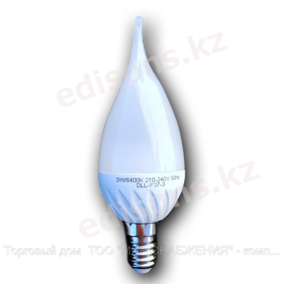 DLL-C35C-5 Светодиодная лампа свеча кристальная Е14-5Вт 6400К.ОПТОМ