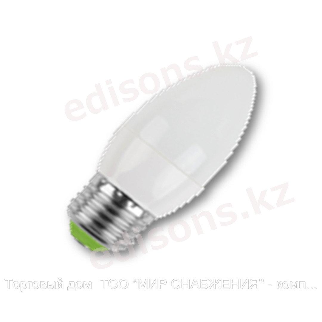 DLL-C37-7 Светодиодная лампа свеча Е27-7Вт 4000К.ОПТОМ