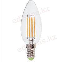 DLL-FC37-6 Светодиодная лампа филамент свеча  Е14-6Вт 4000К.ОПТОМ