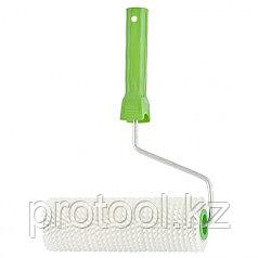 Валик игольчатый  для наливных полов с ручкой, 240 мм// Россия