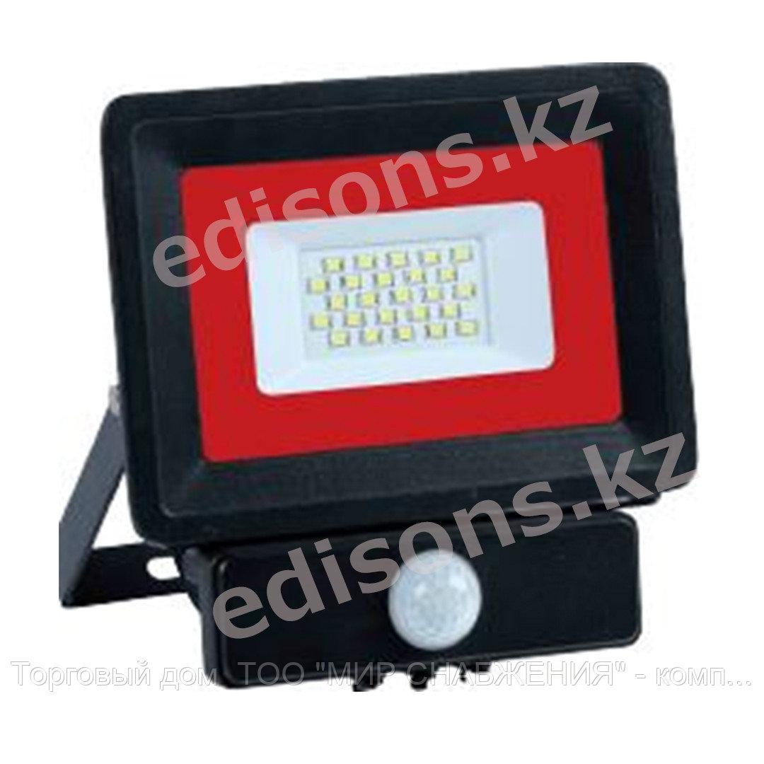 DPL-E022ES IP65 180-240V 20W 6500k Прожектор светодиодный с датчиком движения