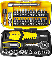Набор инструментов торцевые головки и биты STAYER 25135-H39, PROFI, биты и торцовые головки с трещоткой