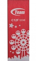 Флеш накопитель USB 2.0 TEAM 32GB C12F DRIVE RED TC12F32GR01