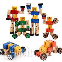 Деревянный робот-трансформер, фото 2