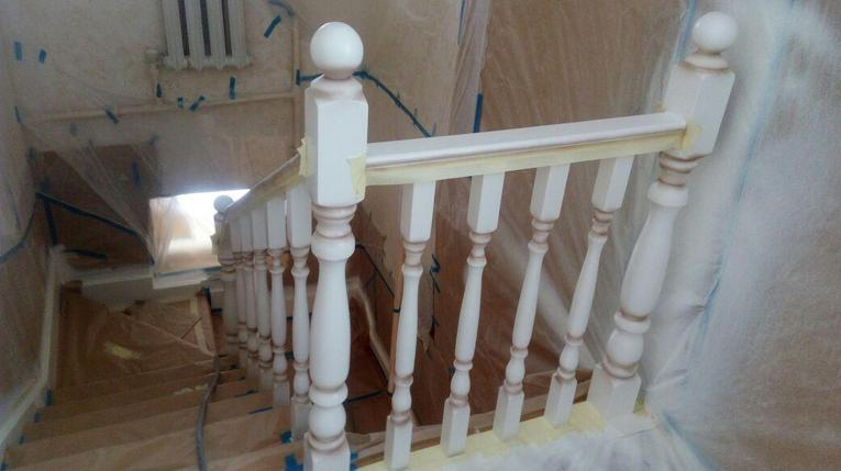 Реставрация старой деревянной лестницы и перил, фото 2