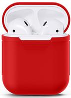 Силиконовый чехол для Apple AirPods (красный), фото 1