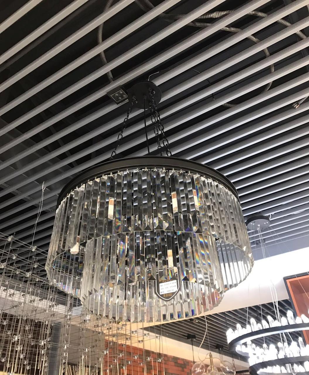 Хрустальная люстра на 9 ламп 60 см. серебро
