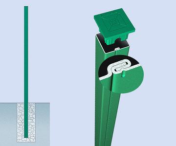 Столб для 3D ограждений металлический толщина металла 1.5 мм.