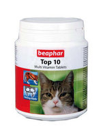 BEAPHAR Top 10 For Cats комплекс витаминов для кошек, с таурином, 180шт.