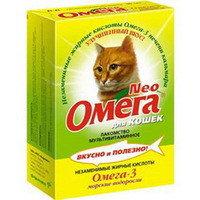 """Омега Neo мультивитаминное лакомство Для кошек """"Морские водоросли"""" 90таб, фото 1"""
