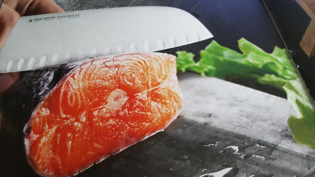 Нож Santoku Resolut+ножницы