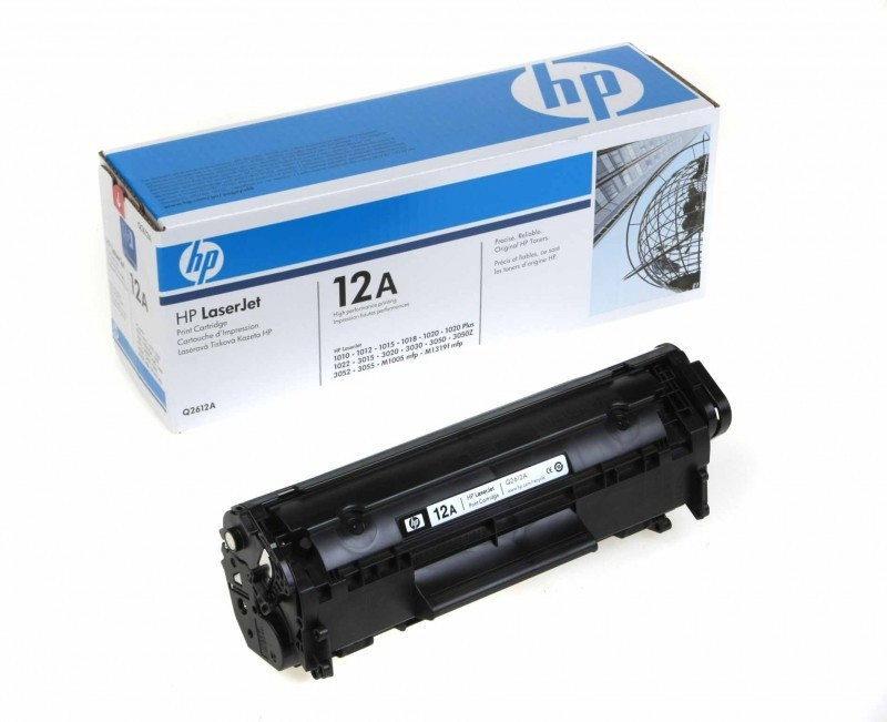 HP 12A Black Original LaserJet Toner Cartridge - Ben It Technics Almaty в Алматы