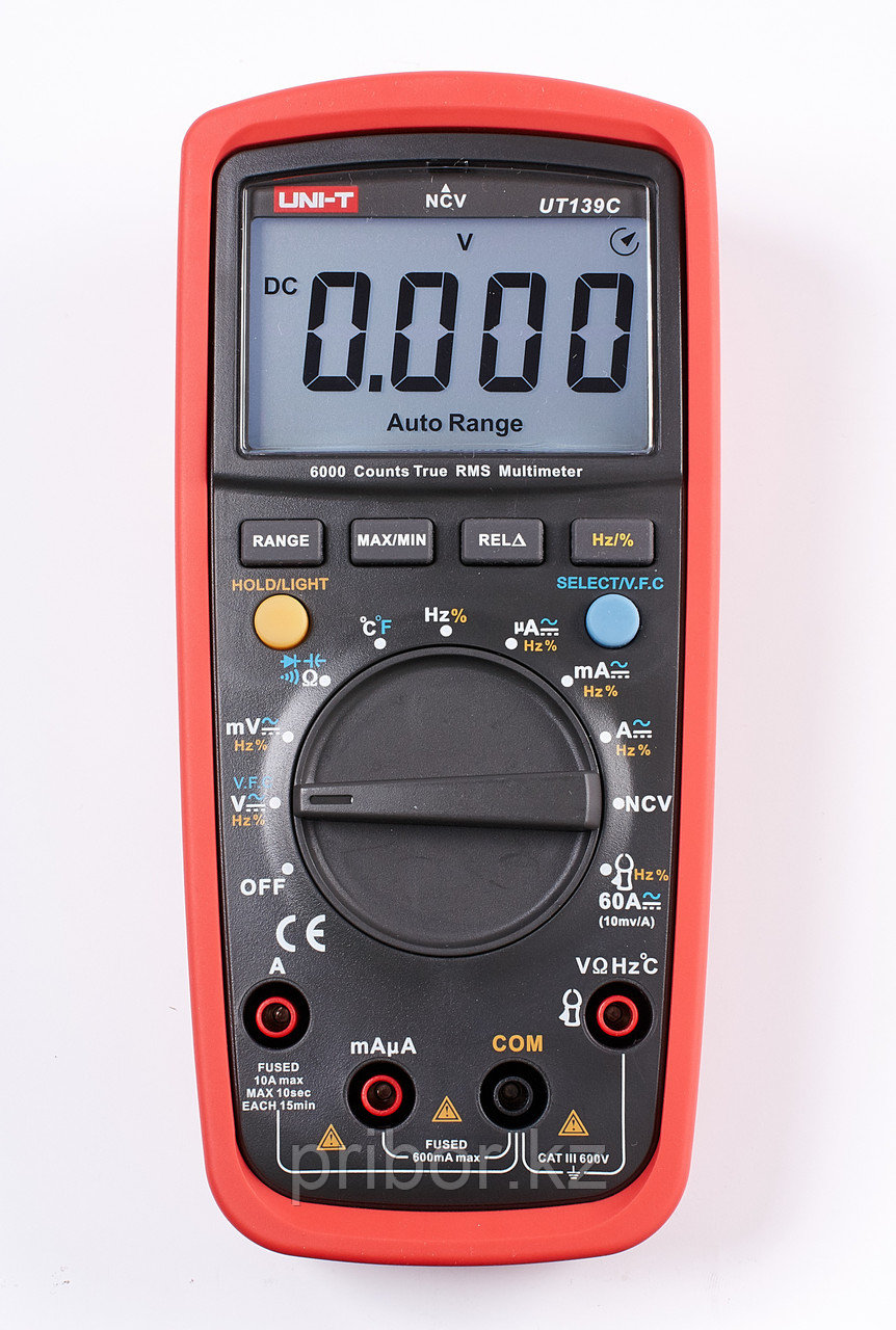 Мультиметр цифровой True RMS UNI-T UT139C. Внесён в реестр РК