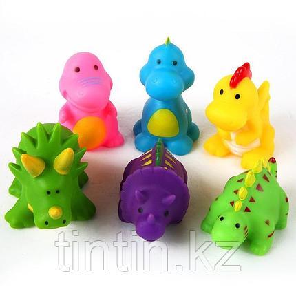 """Набор из 6 резиновых пищалок """"Динозавры"""", фото 2"""