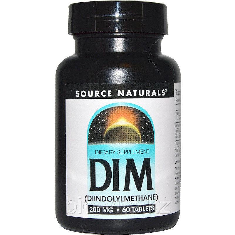 DIM Дим (фитохимический индол) 200 мг. 60 таблеток. SOURCE NATURALS