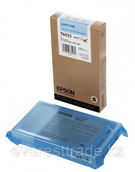 Картридж Epson C13T603500 SP-7880/9880 светло-голубой