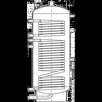 Бак ВТН-1, 1000 л из нержавеющей стали, 2 теплообменника