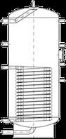 Бак ВТН-2, 400 л из нержавеющей стали, 1 длинный теплообменник