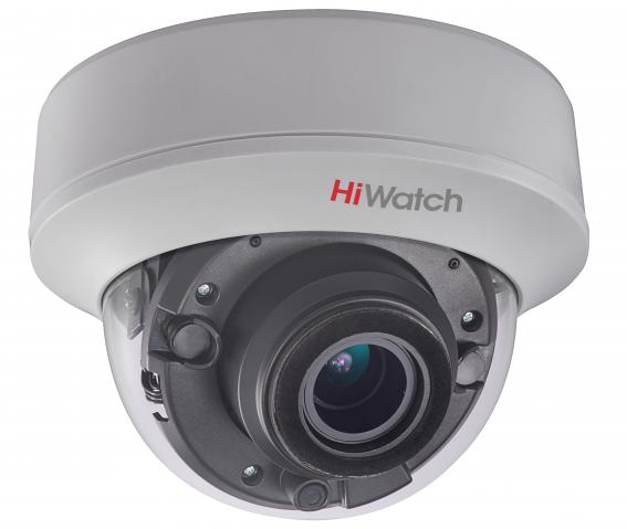 DS-T507 5Мп внутренняя купольная HD-TVI камера с ИК-подсветкой до 40м; моторизированный вариообъектив 2.8-12мм