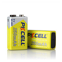 Аккумулятор  PKCELL 9V 250mAh Ni-MH Rechargeable Battery size 6F22
