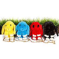 Сумка-рюкзак 3D «Меховой Кролик» на цепочке