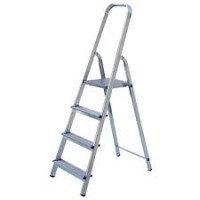 Алюминиевая лестница-стремянка 4-х ступ, Н=0,82/2,90м (Ам704)