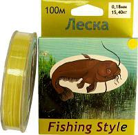Леска Fishing Style RL2902 0.16mm тест 13.20кг 100m (плетенка желтая)