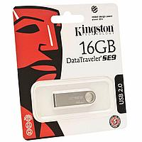Флешка USB Kingston, 16 Gb ( DTSE9H16Gb), Серебристый